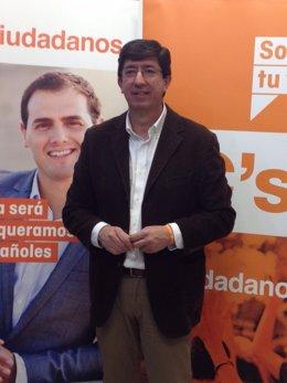 Juan Marín, cabeza de lista de C's