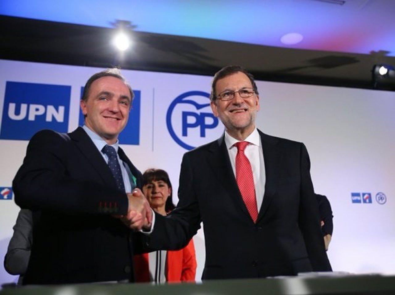 Rajoy y Esparza renuevan el acuerdo UPN-PP para ir en coalición a las elecciones