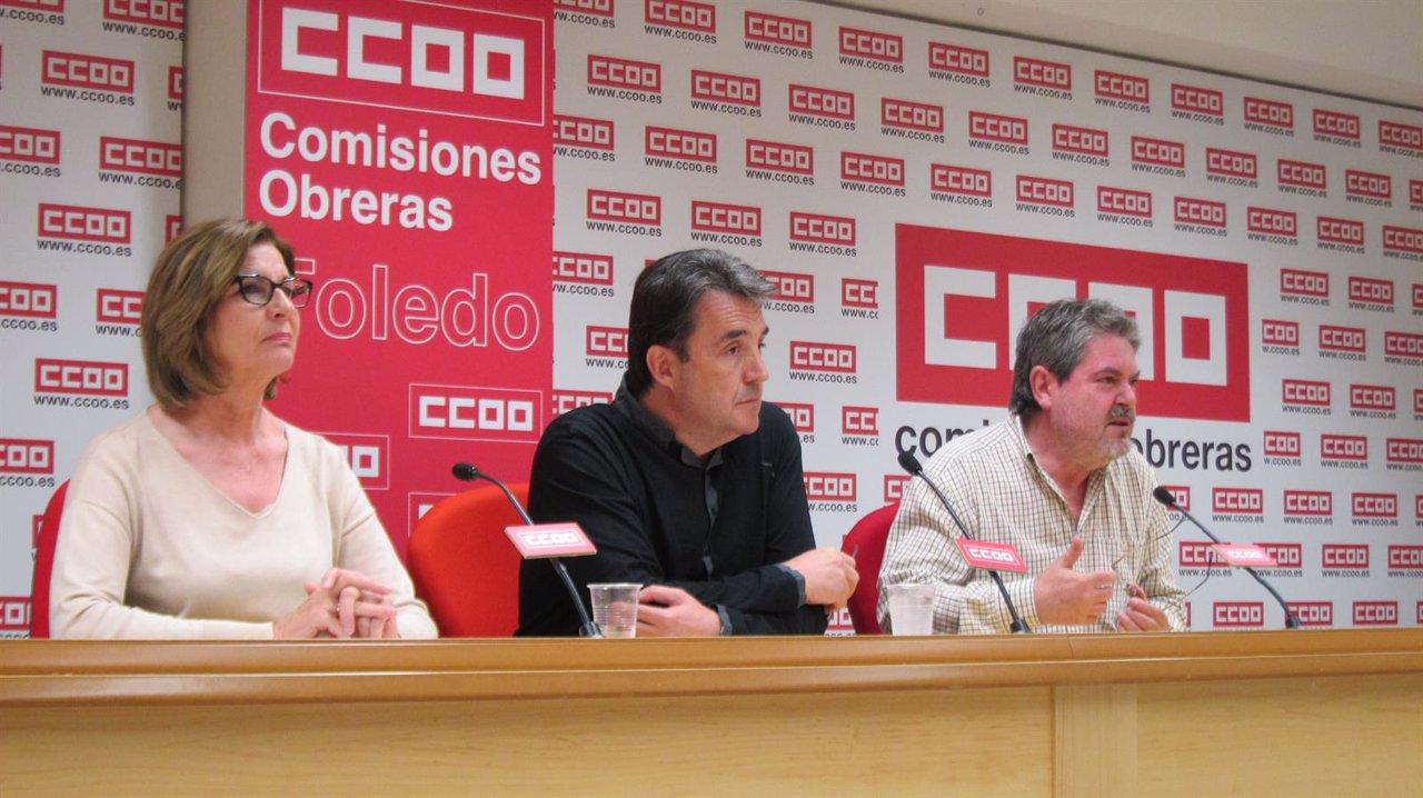 Sánchez, Toboso y Villaraco en rueda de prensa