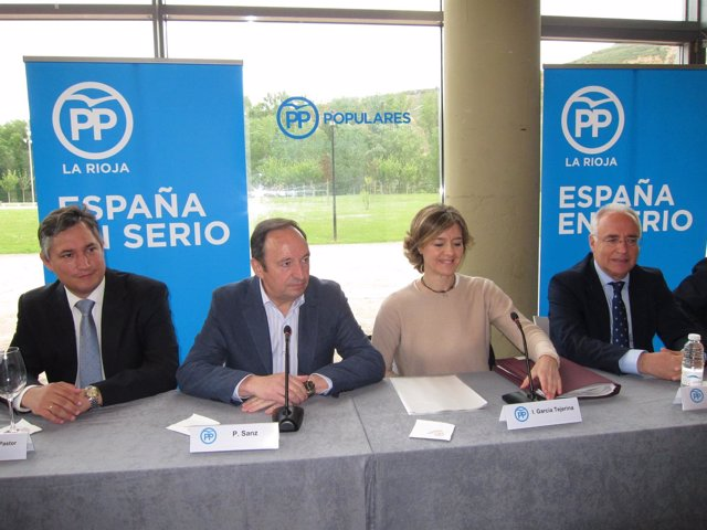 Pérez Pastor, Sanz, García Tejerina y Ceniceros en acto PP agricultores