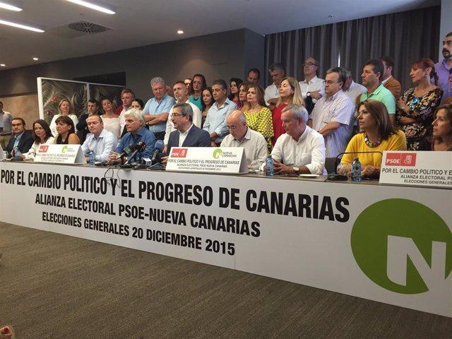Alianza PSOE-NC para las elecciones del 20D