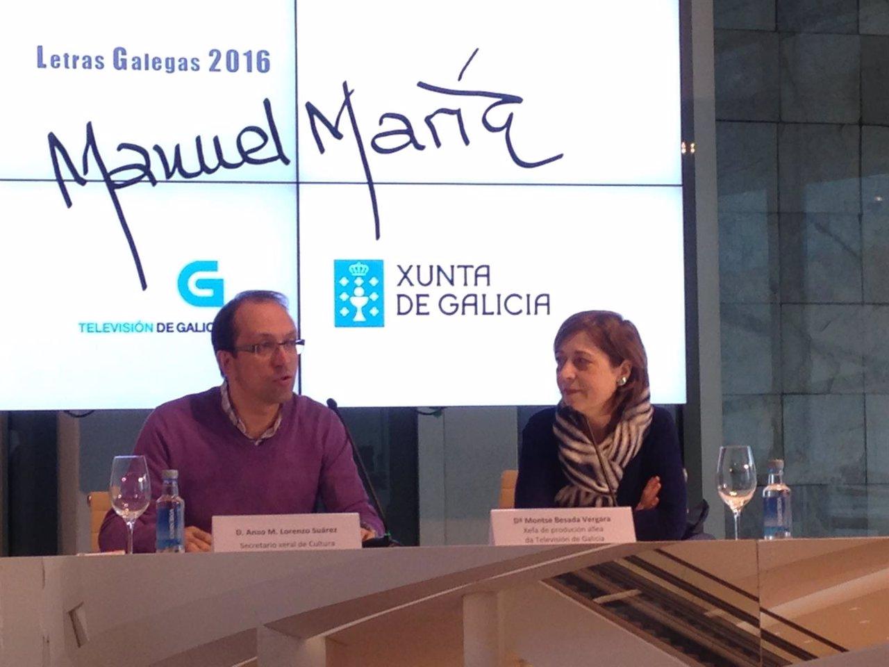Presentación de piezas audiovisuales con motivo das Letras Galegas.