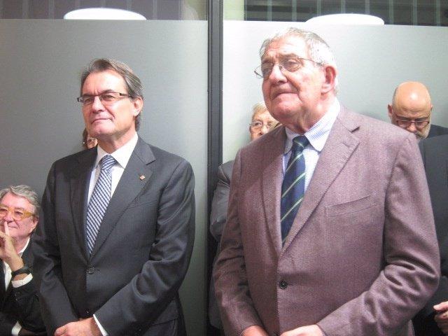 Artur Mas (pte.Generalitat) Joaquim Ferrer (pte.Catdem)