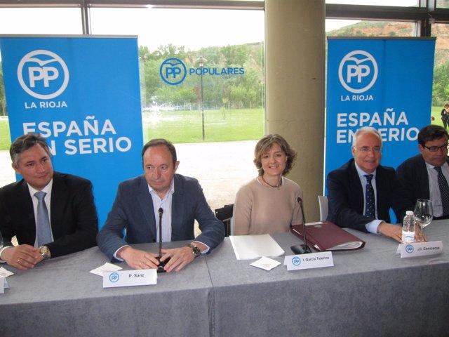 Pérez Pastor, Sanz, Tejerina y Ceniceros en reunión sector agrícola