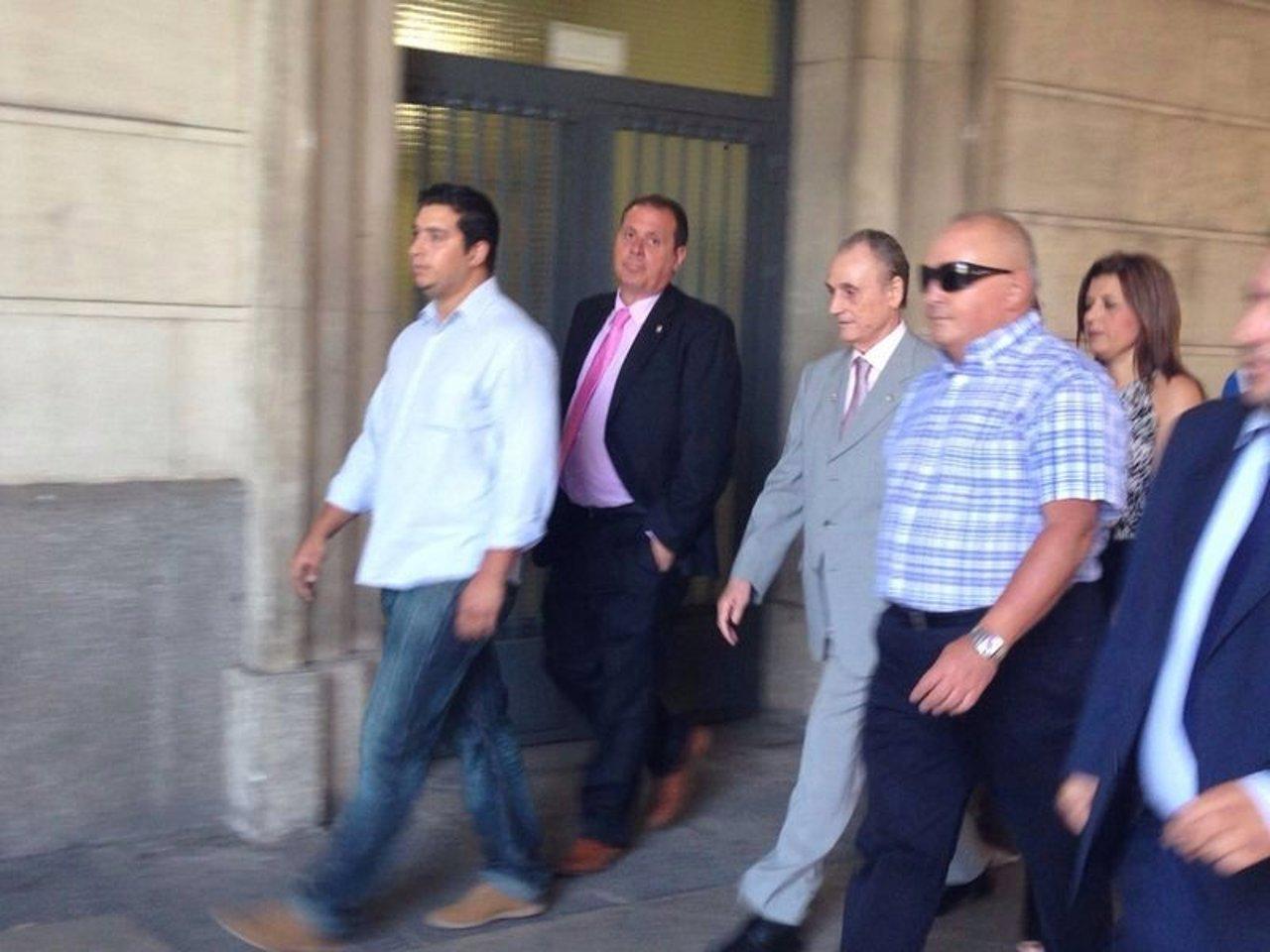 Manuel Ruiz de Lopera llega a los juzgados