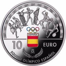 Moneda de plata sobre los Juegos Olímpicos de Río