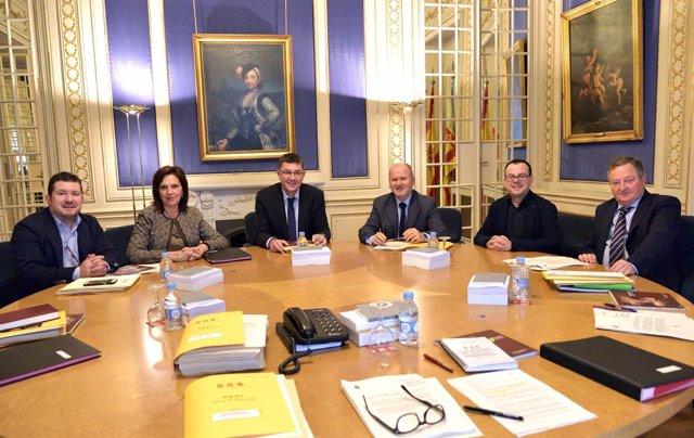 Reunión de la Mesa de las Corts