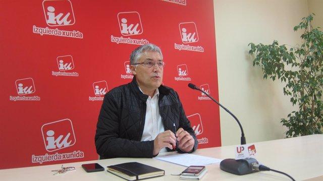 Manuel González Orviz, en rueda de prensa.