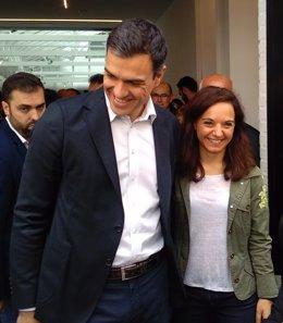 Pedro Sánchez y Sara Hernández