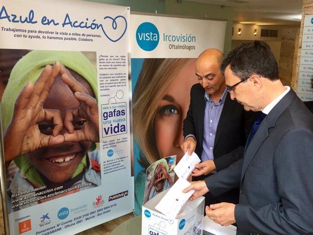 Ballesta participa en la campaña de la ONG Azul en Acción