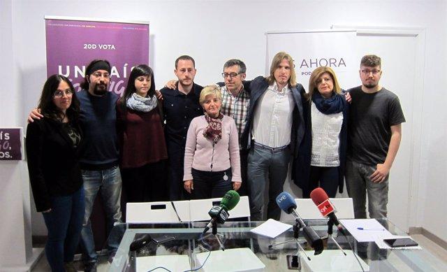 Los integrantes de la Gestora de Podemos Salamanca