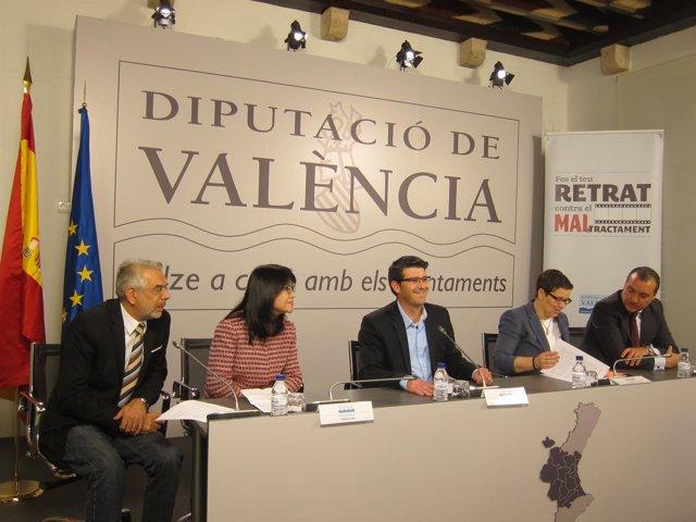 El presidente de la Diputación y los del Valencia CF y Levante UD