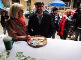 Martiño Noriega celebra el preacuerdo Podemos-IU