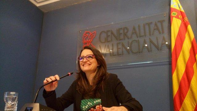 Mónica Oltra este martes en Alicante