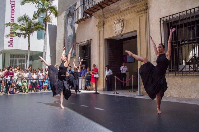 Danza en la calle Museo Carmen Thyssen.