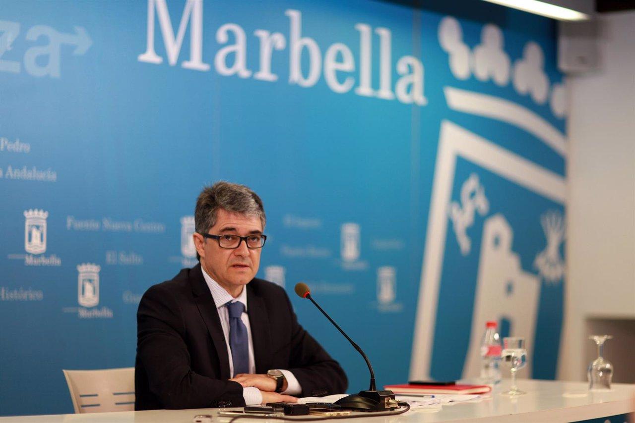 Portavoz municipal del Ayuntamiento de Marbella, Javier Porcuna,