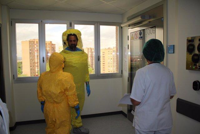 Unidad de Aislamiento de Alto Nivel del Hospital La Paz