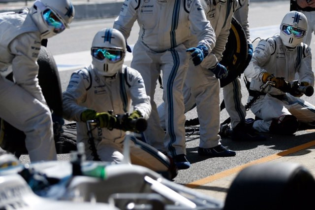 Pit stop del equipo Williams de Fórmula 1