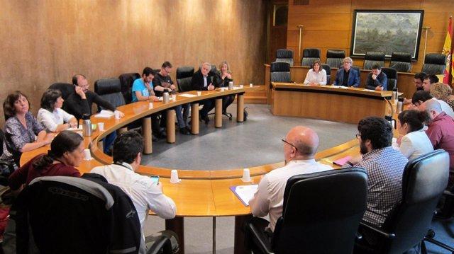 Reunión de toda la izquierda aragonesa en las Cortes