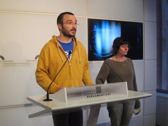 Albert Botran y Pilar Castillejo, CUP