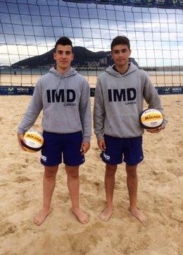 Jugadores del centro de voley playa