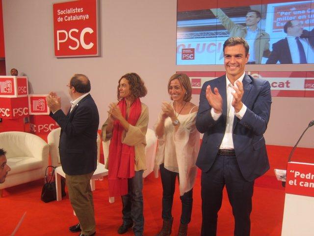 Mique Iceta , Pedro Sánchez  y M.Batet