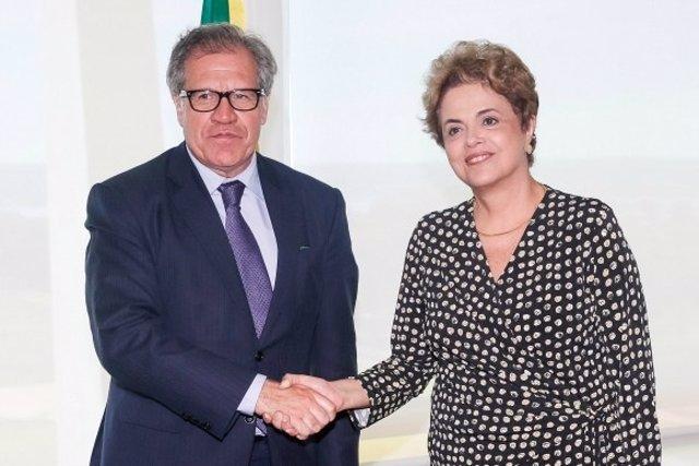 Luis Almagro y Dilma Rousseff