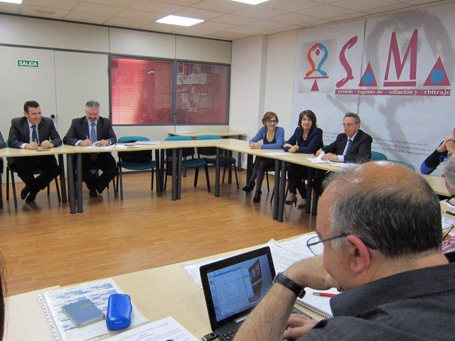 Firma del convenio de AUZSA 2015-19 en el SAMA