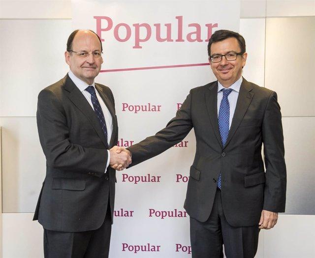 Firma del acuerdo de Popular y el BEI