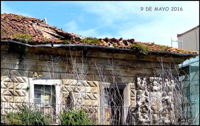 Derrumbe parcial del tejado del Palacio de Chiloeches