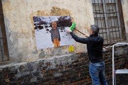 Exposición de fotografía urbana en barrio Lagunillas Málaga