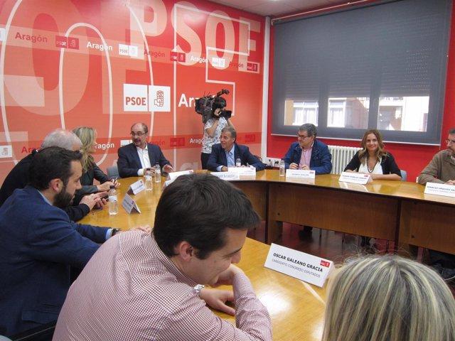 Reunión esta tarde en el PSOE Aragón