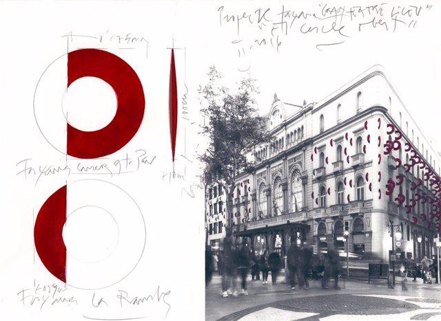 Propuesta de reforma de la fachada del Liceu
