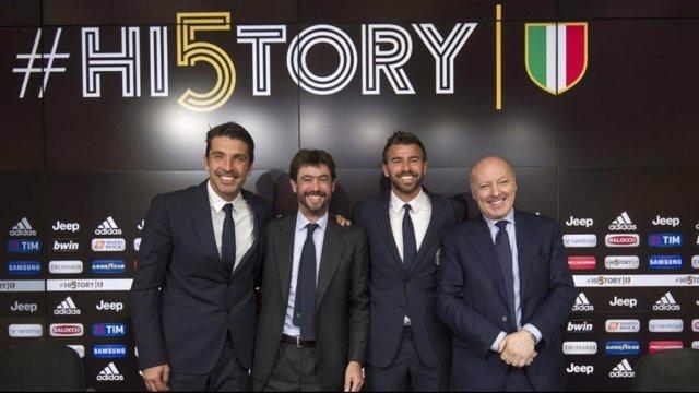 Buffon y Barzagli, renovados con la Juventus