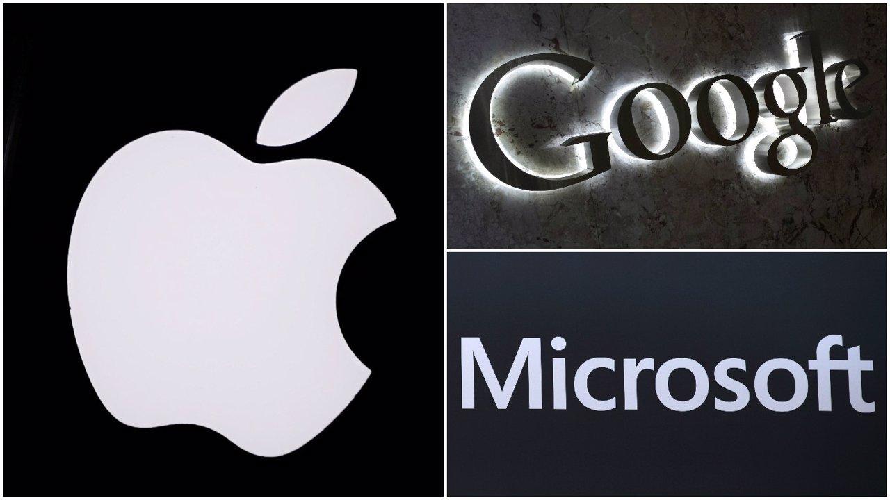 Apple Google y Microsot