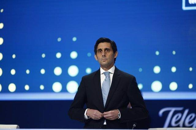 El presidente de Telefónica José María Alvarez Pallete en la junta de accionista