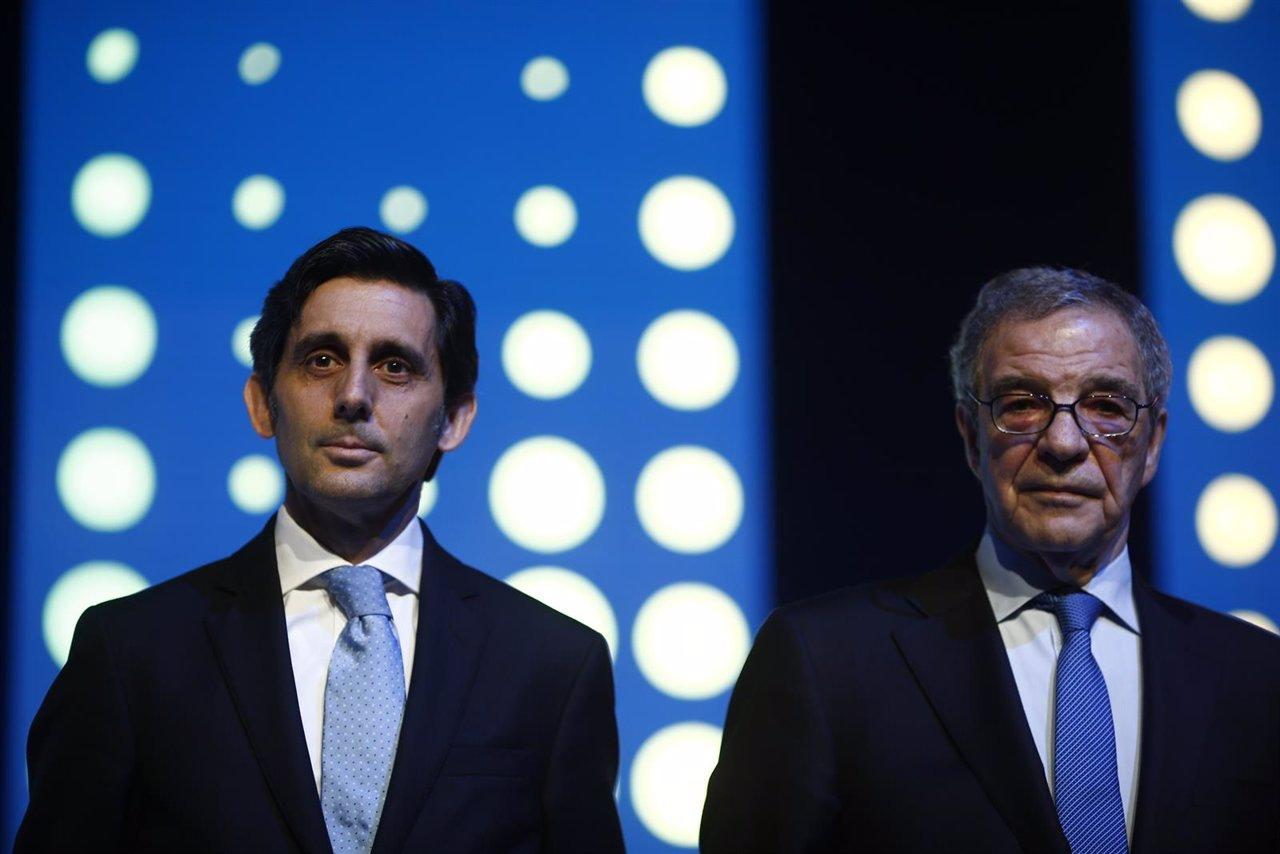 José María Álvarez-Pallete, presidente de Telefónica, y César Alierta