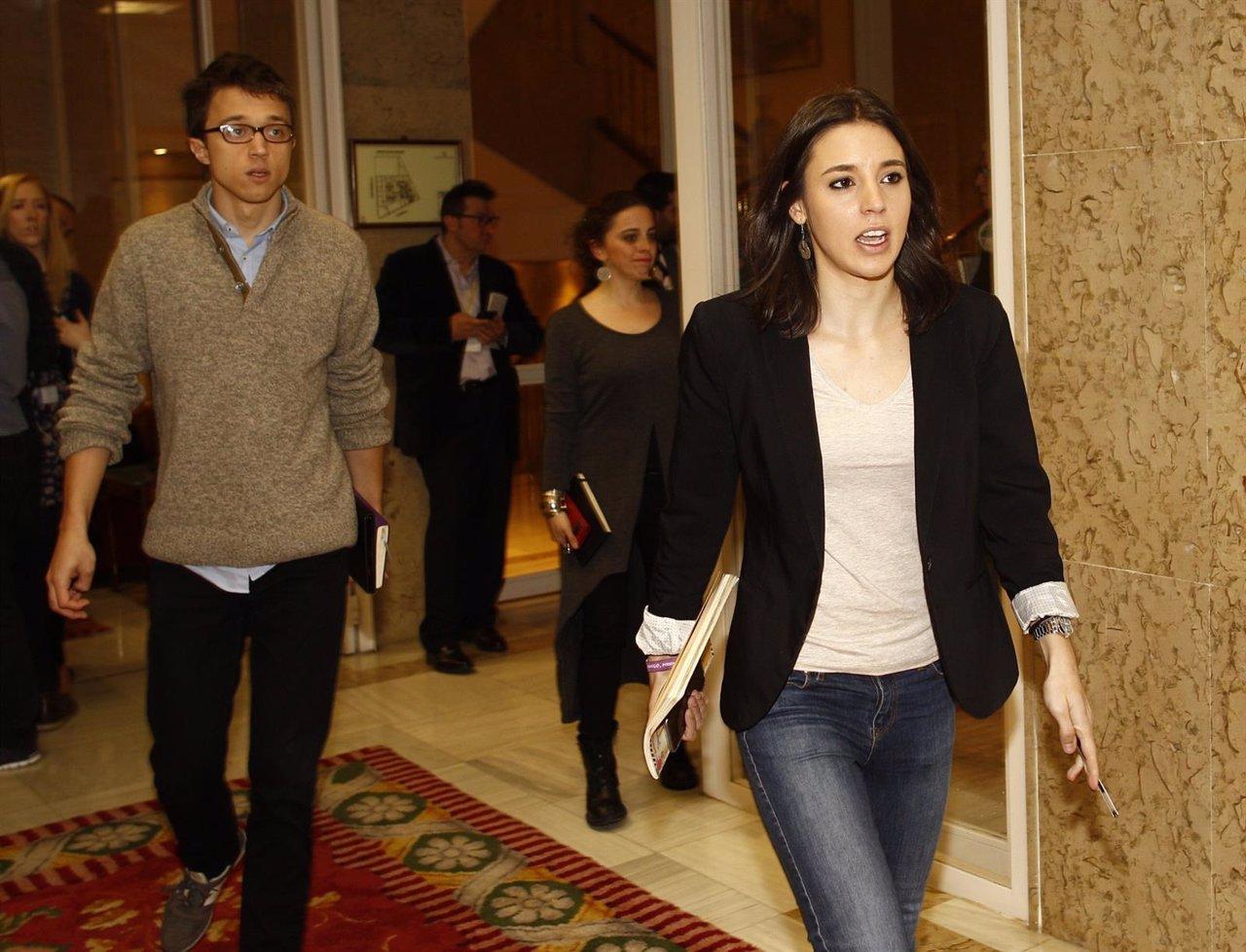 Íñigo Errejón e Irene Montero