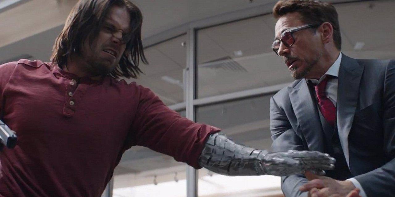 Bucky y Iron Man en Civil War