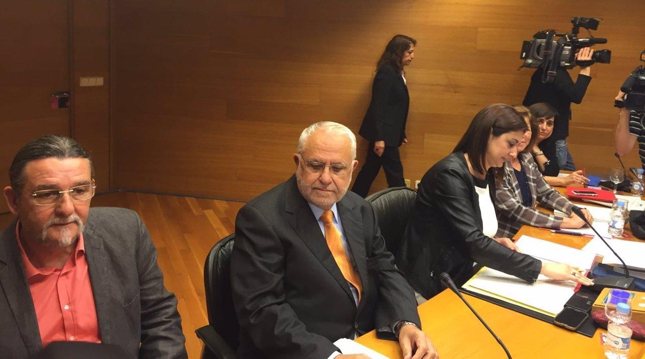 Juan Cotino en la comisión de las Corts