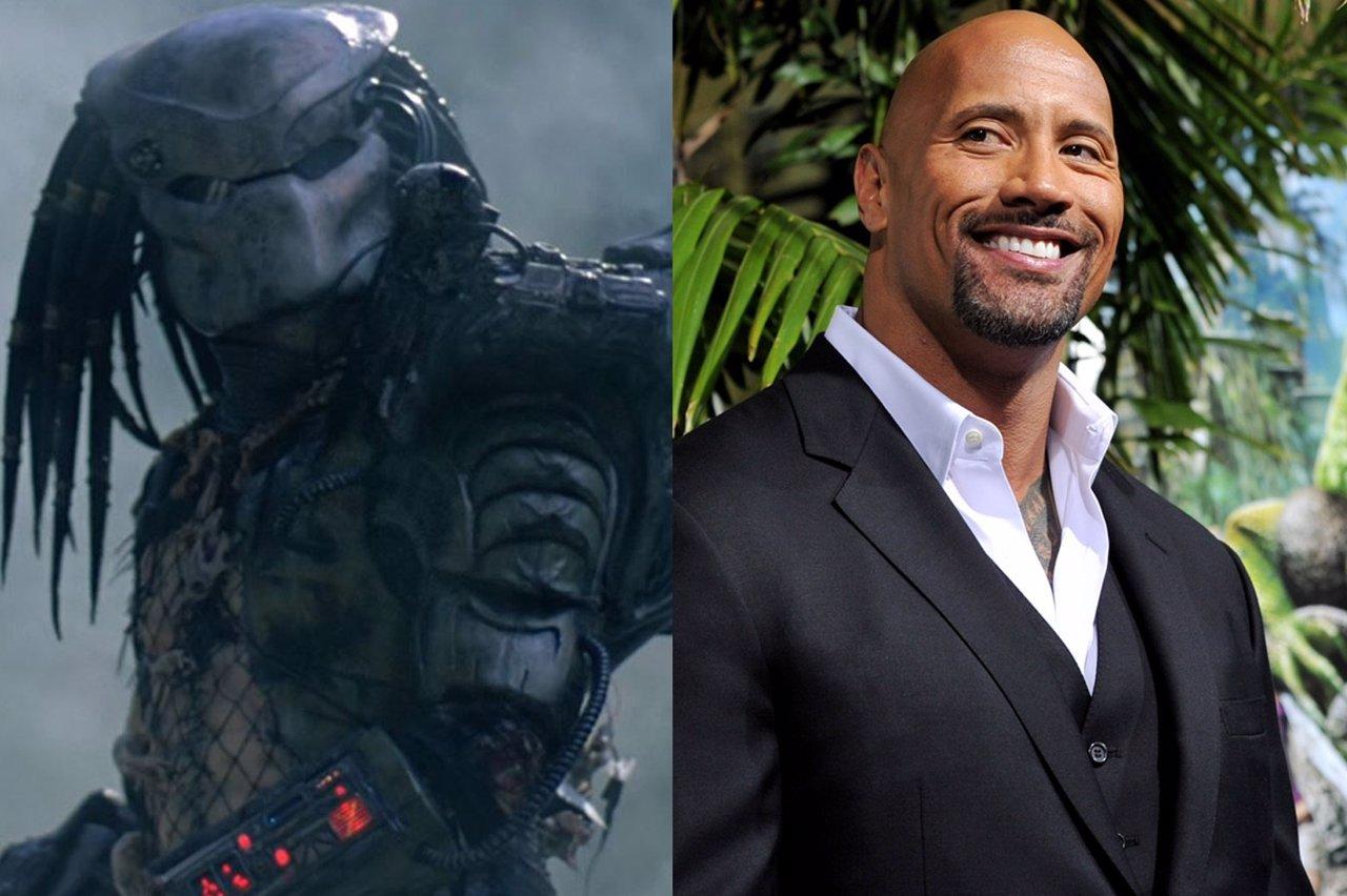 The Predator y Dwayne Johnson