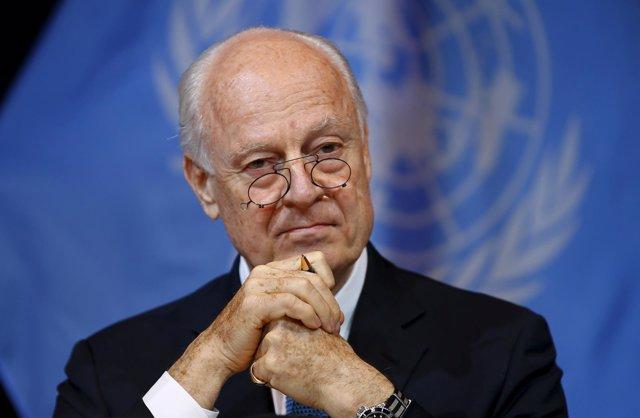 El enviado especial de la ONU para Siria, Staffan de Mistura