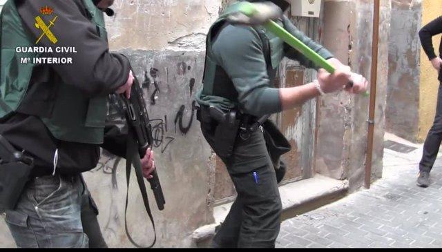 Operación de la Guardia Civil para desmantelar en Quel cultivo marihuana