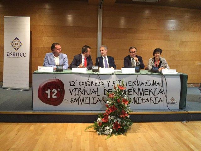 El consejero de Salud, Aquilino Alonso, asiste al XII Congreso Asanec en Granada
