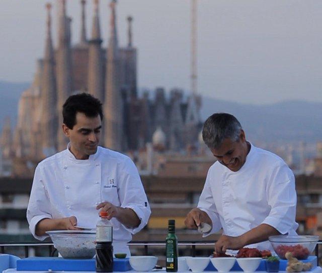 Show de cocina en la Semana de las Terrazas en Barcelona