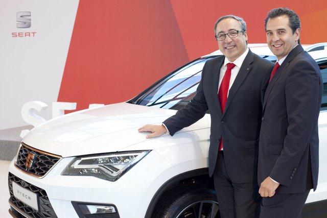 Mikel Palomera y Carlos Espinosa, inauguración de Castellana Motor