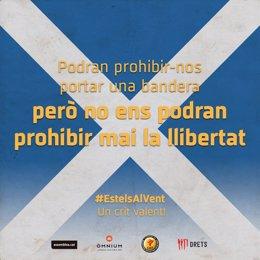 Banderas escocesas para la final de Copa