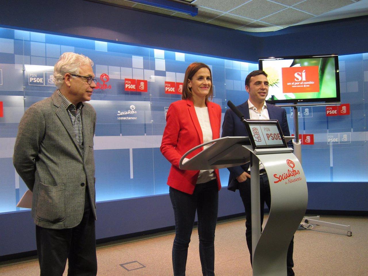 Jesús Mari Fernández, María Chivite y Toni Magdaleno