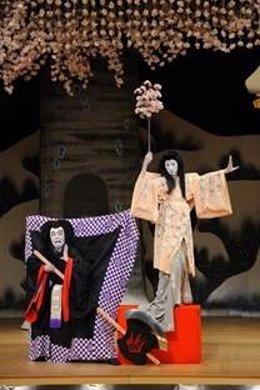 Puesta en escena del Teatro Kabuki