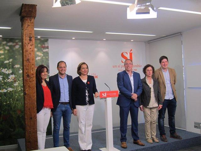 César Luena y el resto de candidatos al Congreso y al Senado por La Rioja